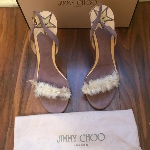 Carrie Bradshaw Feather Jimmy Choo Heel